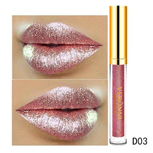 Ourhomer Waterproof Lasting10 Color Womens Magic Glitter Flip Lipstick Flip Pull Matte Pearl Lip Gloss CLU (C)
