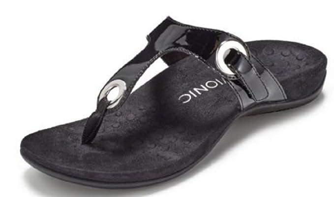 e6d80ab8893b Vionic Orthotic Lana Toe Post Sandal with FMT Technology - Black 4 ...