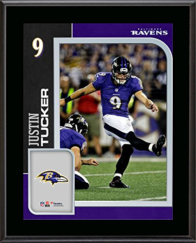 Justin Tucker Baltimore Ravens 10.5'' x 13'' Sublimated Player Plaque - NFL Player Plaques and Collages (Baltimore Ravens Best Players)