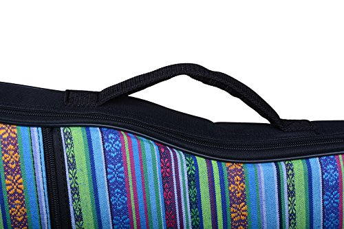 HOT SEAL 10MM Sponge Padding Waterproof Durable Colorful Conventional ukulele Case Bag with Storage … (23/24 in, Bohemia…