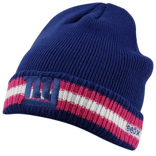 (Reebok New York Giants Breast Cancer Awareness Sideline Cuffed Knit Hat One Size Fits All)