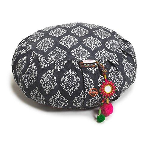 Chattra Charcoal Darpan Zafu & Zabuton Meditation / Yoga Set