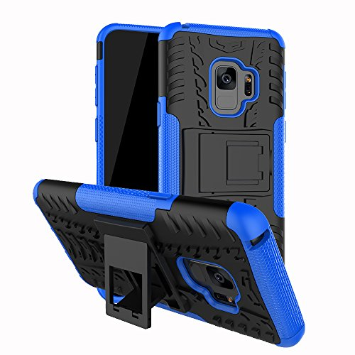Samsung Galaxy S9 Tough Armor Heavy Duty Galaxy S9 Protective Case – Olixar ArmourDillo – With Reinforced Kickstand – Blue