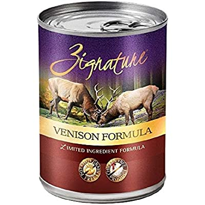 Zignature Venison Formula Canned Dog Food, 13 Oz Cans (12 Cans In A Case)