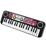 JAPAN AVE. ラジオ も聞ける! 一台でいろいろ遊べる マイク 付 キーボード 37鍵 / 軽量 コンパクト デモ演奏 8つの リズム 付 / 電池 式/ キッズ おもちゃ 楽器 ピアノ スピーカー サウンド
