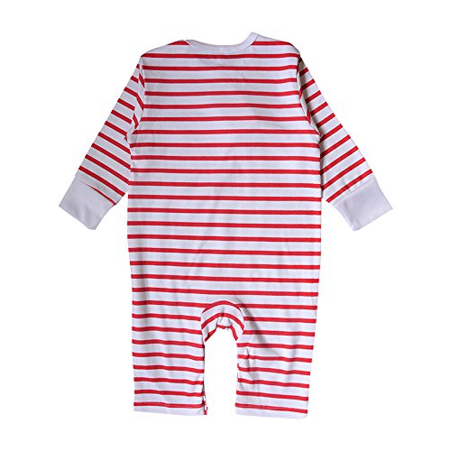 Nonna Bambini Love Daddy Baby Girl Striped Bodysuit Red (6M) by Nonna Bambini (Image #1)