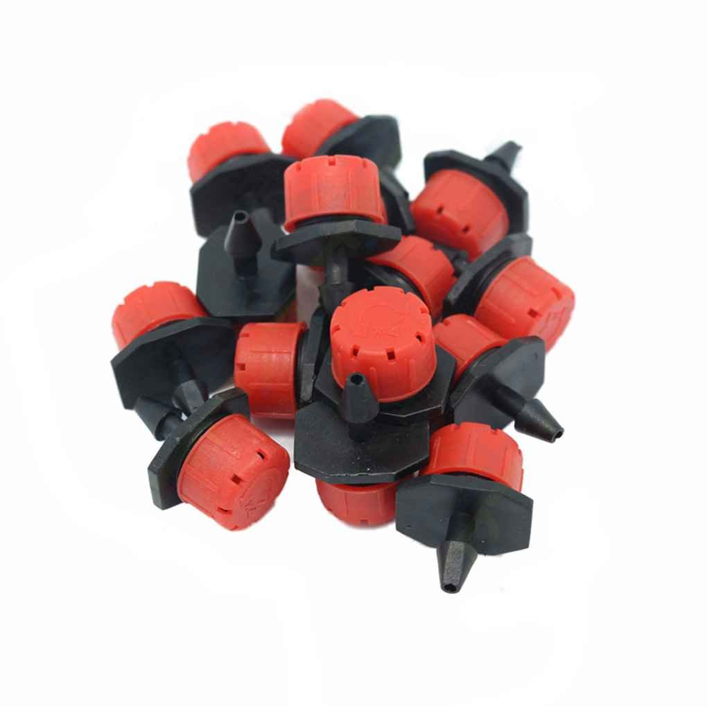 Xuanhemen 100pcs Plastic Adjustable Emitter Dripper Micro Drip Irrigation Sprinklers Watering System Automatic Water Spray Nozzle