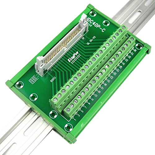 Sysly IDC40 2x20 Pins DIN Rail Mounted Interface Module, Breakout Board, Terminal Block