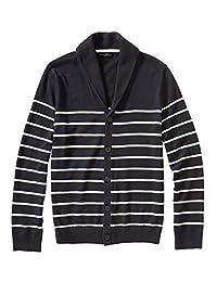 Banana Republic Factory Men's Stripe Shawl-Collar Cardigan Bold Blue Stripe