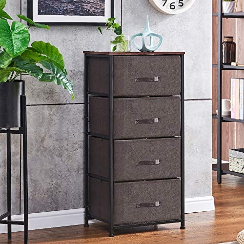Redd Royal 4 Drawer Fabric Dresser Tower Fabric Chest Drawer