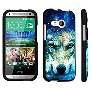 DuroCase ? HTC One mini 2 [2014 Released] Hard Case Black - (Wolf In Space)