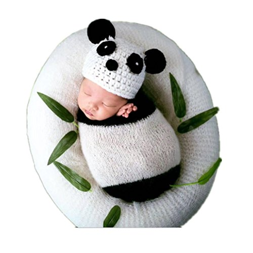 Newborn Boy Girl Baby Photography Props Outfits Photo Shoot Hat Sleeping Bag Set White
