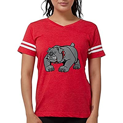CafePress Mean Bulldog T-Shirt - Womens Football Shirt