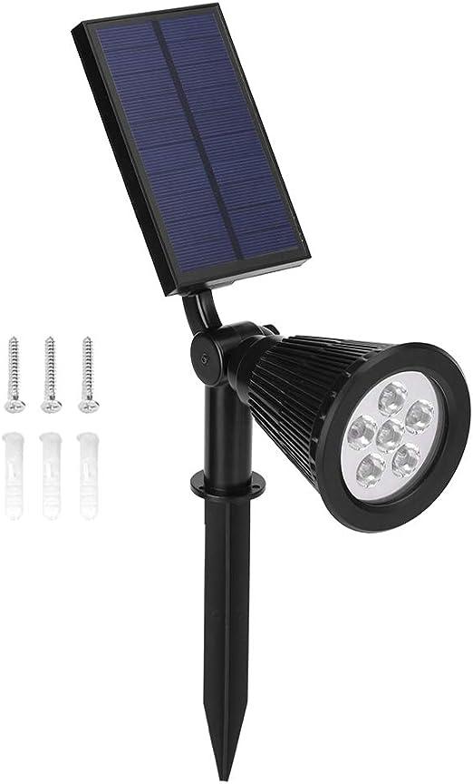 Riuty Focos solares Lámpara Solar, 2 en 1 Patio Trasero Luces de Patio Foco de jardín,