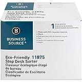 Business Source 6-Slot Inclined Desk Step Sorter