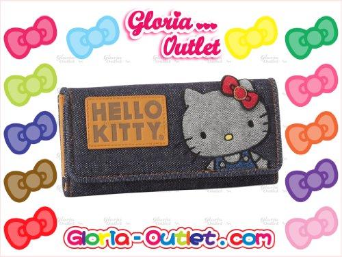 ♥Hello Kitty Denim Vintage Wallet Sanrio By Loungefly Best Gift Checkbook