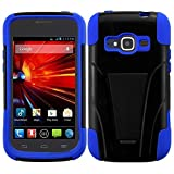 zte concord ii case - HR Wireless T-Stand Cover for ZTE Concord II Z730 - Retail Packaging - Black/Blue