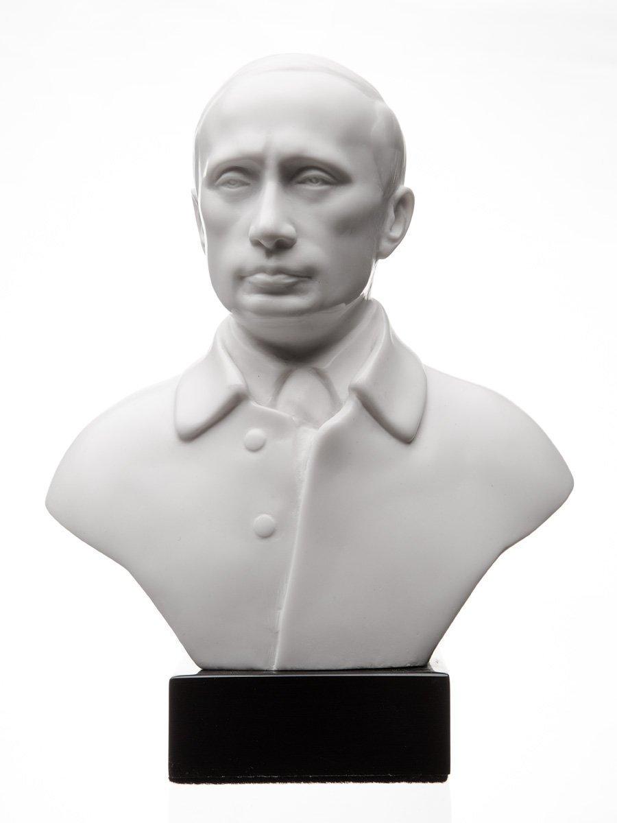 Russian Leader President Vladimir Putin Marble Bust Statue Sculpture 7.1'' danila2k2