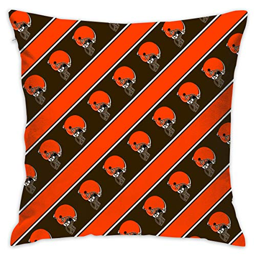 Sorcerer Custom Pillowcase Colorful Cleveland Browns American Football Team Bedding Pillow Covers Double Sided Printing Square Pillow Cases Home Couch Sofa Decorative 18x18 Inches (Cleveland Browns Couch)