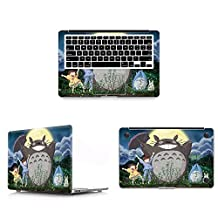 """HRH 3 In 1 Full Body Cover Little Totoro Vinyl Decal Laptop Stickers Palmrest PalmGuard For Apple MacBook Pro 13""""13.3"""" with Retina Display (A1502 / A1425)"""