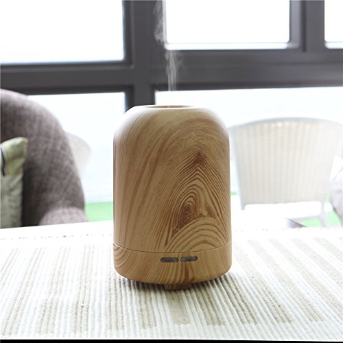 TRADE 100ML Ultrasonic Timer Settings and Waterless Auto Shut-off Protection Air Purification Spray Circle Column Shallow Wood Grain Humidifier,Suitable for Your Home and Office by TRADE® (Image #5)