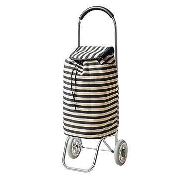 SXRNN Carrito de la Compra Escalada Tiras Negras Carro de Acero Shopping Trolley para Personas de Movilidad Limitada Gran Capacidad 35L, ...