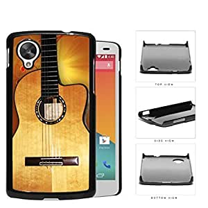 Acoustic Guitar With Music Notes Hard Plastic Snap On Cell Phone Case LG Nexus 5 by icecream design