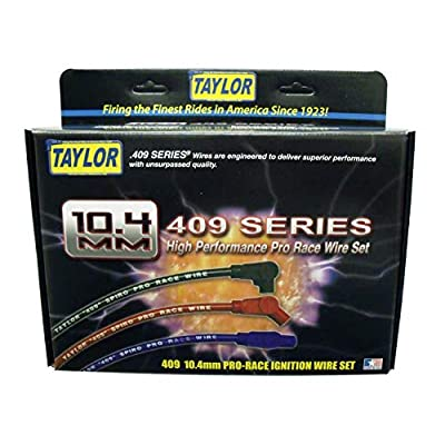 Taylor Cable 79294 409 Spiro-Pro 10.4mm Ignition Wire Set Red Stock 11.75 in. 180 Deg. Plug Boot 409 Spiro-Pro 10.4mm Ignition Wire Set: Automotive