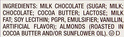 034000002412 - HERSHEY'S Chocolate Bar with Almonds, Milk Chocolate Candy Bar with Almonds, 1.45 Ounce Bar (Pack of 36) carousel main 2
