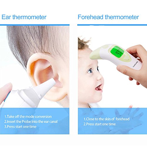 Baby Care 3-in-1 Infrared Forehead And Ear Thermometer Baby Children Adults Body Thermometer Digital Medical