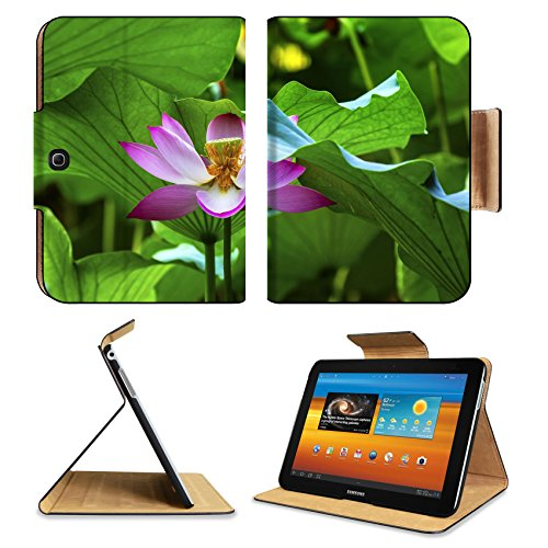 Samsung Galaxy Tab 3 101 Tablet Flip Case Pink Lotus Flower Stamen