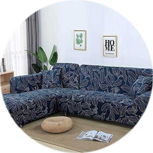 Elastic Sofa Cover Cotton It Needs Order 2 Pieces Covers for L-Shape Corner Sectional Sofa Cover for Living Room Solid Color,Color 22,2-Seater 145-185cm (Couch Toronto Sectional)