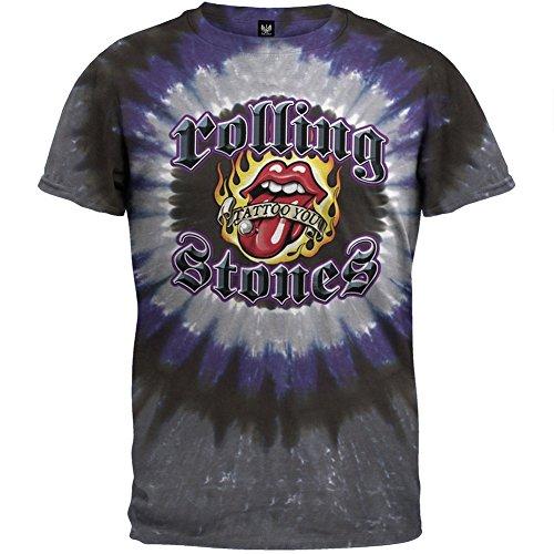 Tongue Tie Dye Shirt (Rolling Stones - Tattoo You Stud Tie Dye T-Shirt - Medium)