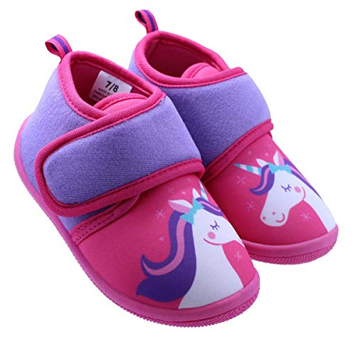 Price comparison product image Unicorn Toddler Girl's Daycare Slippers (5-6 M US Toddler)