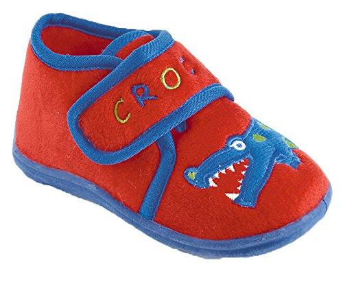 Slumberz - Zapatillas de estar por casa para niño Red