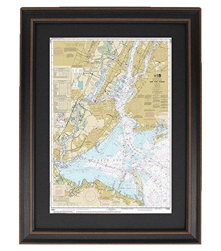 Framed Nautical Chart ;新しいYork Harbor   B01N9XJ8U0