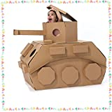 DIY Graffiti Cardboard Painting Coloring Cool Tank Tent Children Sport Game Tent Paper House Toy Use Your Imagination Toy Set