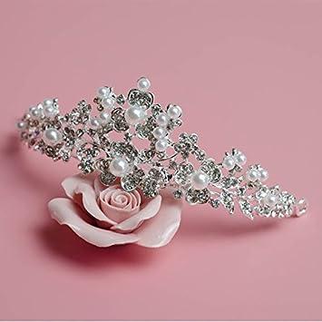 Amazon.com: Cantidad 1 x tocado de la novia Corona Tiara ...