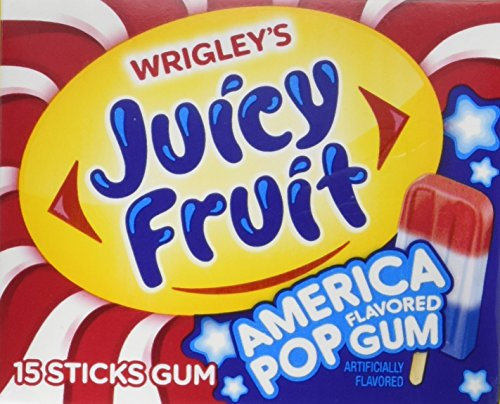 Juicy Fruit America Pop Gum, (10 Packs)
