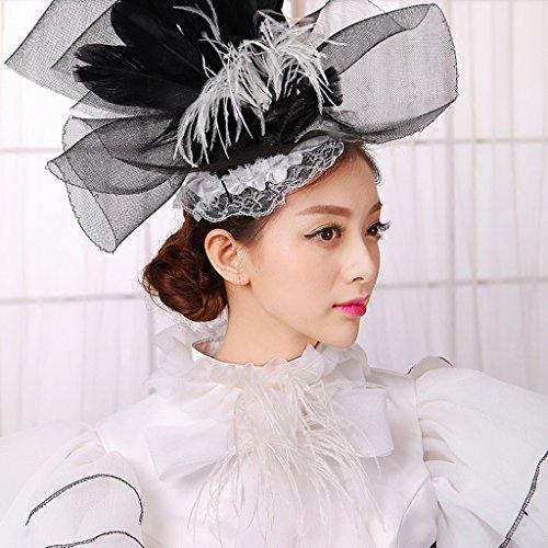 Kostüm Weiß für Viktorianischen Petticoat Hut Damen Masquerade Gothic Set Weiß Kleider Schwarz Kleid Mädchen Cosplayitem von Kleid Palace und Schwarz t0qwn