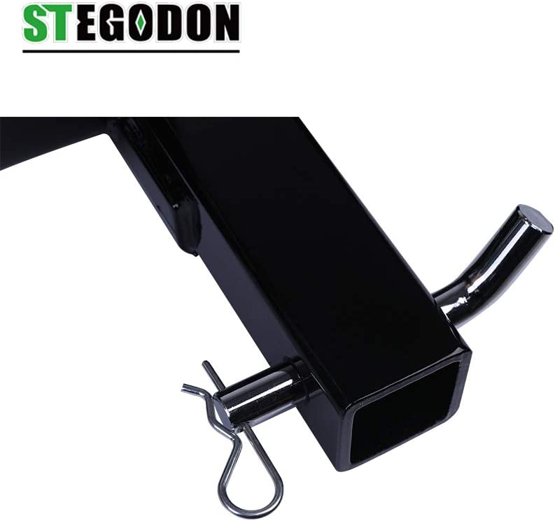 STEGODON Winch Mounting Plate Winch Cradle Mounting Bracket 8000lbs-13000lbs Capacity Foldable Bracket for Truck Trailer ATV 4WD 2 Hitch Receiver