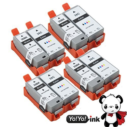 YoYoInk Compatible Ink Cartridges Replacement for Canon PGI-35 & CLI-36 (4 Black, 4 Color, 8-Pack) (8 Pack - (4 Black 4 Color))