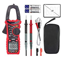 OuTera Digital Clamp Meter Multimeter AC DC Voltage AC DC Current Meter 6000 Counts Auto Range Testing with NCV Flashlight