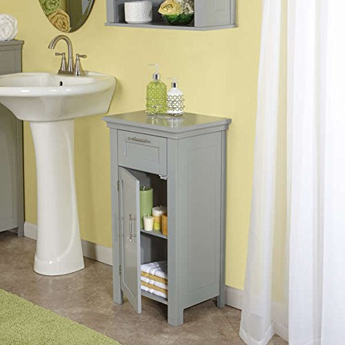 RiverRidge Home Products Transitional Somerset Collection Painted Grey finish MDF Single-door Floor Cabinet