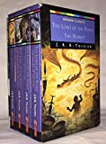 By J. R. R Tolkien The Hobbit and The Lord of the Rings (Box Set of Four Paperbacks) (Film tie-in edition) [Paperback]