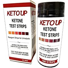 Ketone Test Strips - Tests for Bulletproof, Ketogenic Diet and Low-Carb Diets. Professional Grade Reagent Strips for Urinalysis Testing. Keto Up