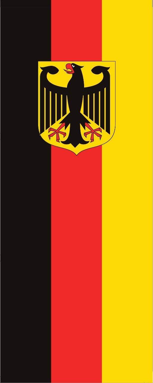 Bandera de Alemania con águila 110 g, ca. 400 cm x 150 cm Hochformat: Amazon.es: Jardín