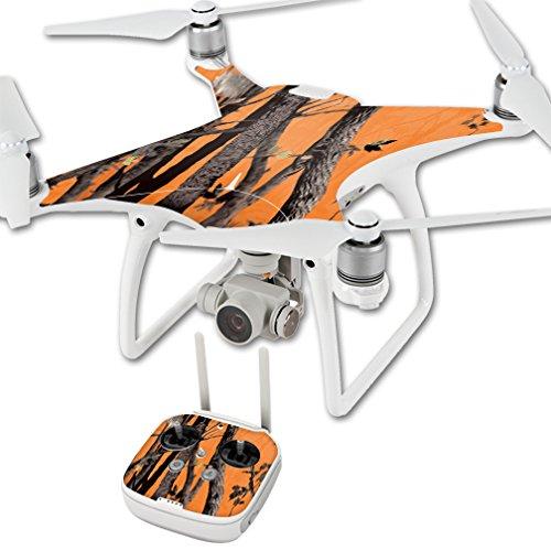 MightySkins Protective Vinyl Skin Decal for DJI Phantom 4 Quadcopter Drone wrap Cover Sticker Skins Orange Camo