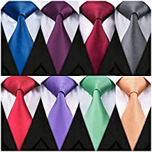 "Barry.Wang 8 Pack Men's Classic Ties Silk Woven Neckties Bussiness,Party,Wedding(59""X3.35""),Must-have Tie for Successful Men"