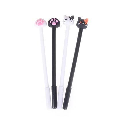 8 bolígrafos creativos de bolígrafo con forma de gato de flamenco y conejo, bolígrafos de tinta ...